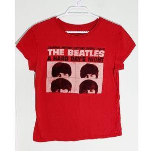 Beatles Hard Day's Night Band Tee women's XL